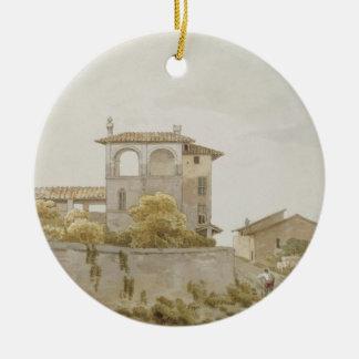An Italian Villa Round Ceramic Decoration