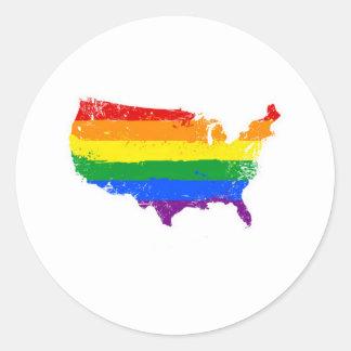 An LGBT America Classic Round Sticker