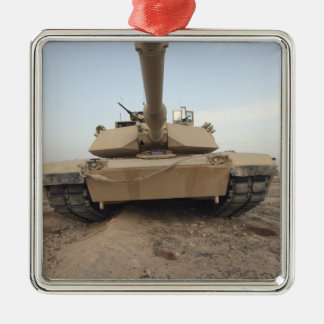An M-1A1 Main Battle Tank Christmas Ornament