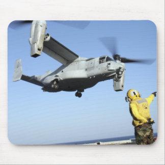 An MV-22 Osprey launches from the USS Nassau Mouse Mat