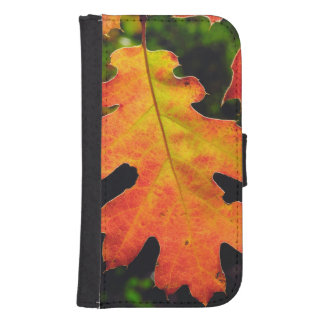 An Oak Leaf in Six Rivers National Forrest Samsung S4 Wallet Case