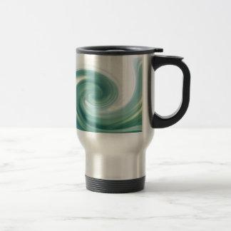 An ocean of green waves travel mug