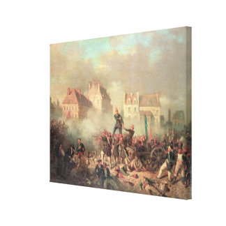 An Officer Giving the Order to Fire Canvas Print