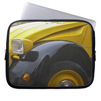 An old black and yellow Citroen 2CV 2 CV, Laptop Sleeve