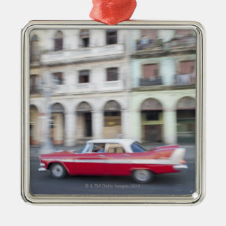 An old car cruising the streets of Havana, Cuba. Christmas Ornament