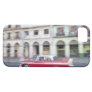 An old car cruising the streets of Havana, Cuba. iPhone 5 Cover