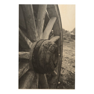 An Old Cart Wheel Wood Wall Art