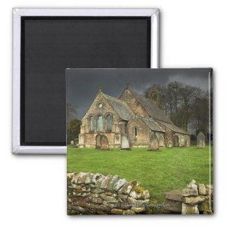 An Old Church Under A Dark Sky Magnets