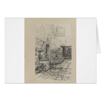 An Old Cistern by James Tissot Greeting Card