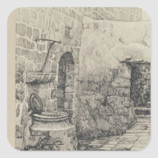 An Old Cistern by James Tissot Square Sticker