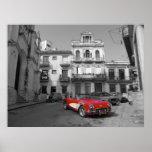 An old Corvette in old Havana Poster