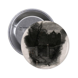 An Old Deserted Mansion Pinback Buttons