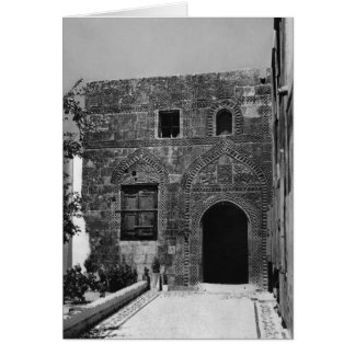 An old house in Lindos, Rhodes Card