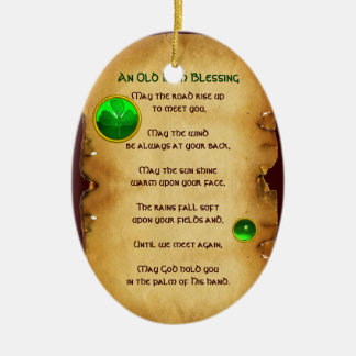 An Old Irish Blessing Parchment Christmas Ornament