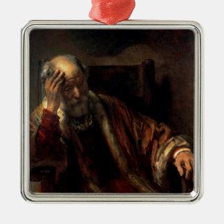 An Old Man in an Armchair Christmas Ornament