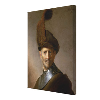 An Old Man in Military Costume c.1630 Canvas Print