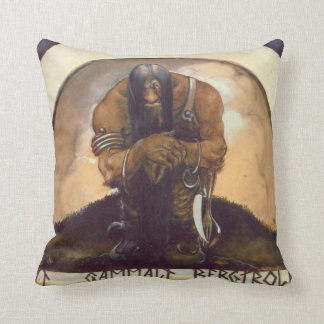 An Old Mountain Troll Throw Pillow