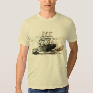 an old old wooden ship. tees