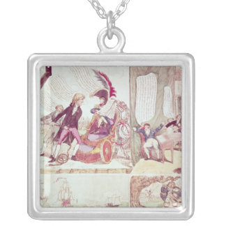 An Old Philosopher Teaching Silver Plated Necklace