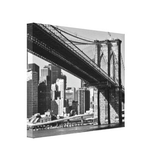 An old photo of the bridge New York Gallery Wrapped Canvas