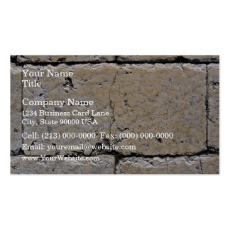 An Old Stone Wall With Cracks Business Cards