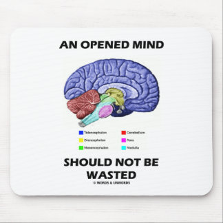 An Opened Mind Should Not Be Wasted (Brain) Mouse Pad