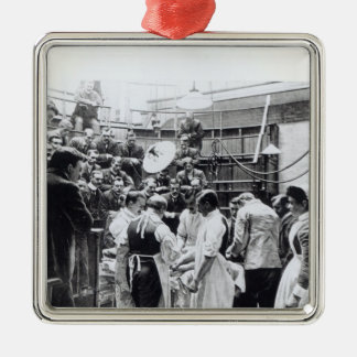 An Operation at Charing Cross Hospital Christmas Ornament