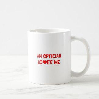 An Optician Loves Me Coffee Mugs