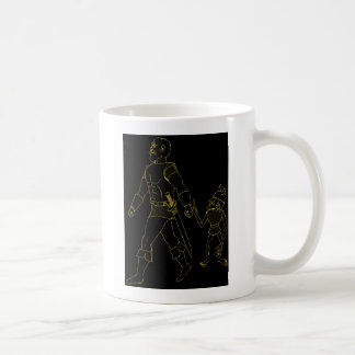 An Orc and Goblin (lined or gold) Mugs