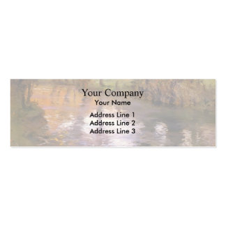 An Orchard on the Banks of River by Frits Thaulow Business Card Template