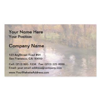 An Orchard on the Banks of River by Frits Thaulow Pack Of Standard Business Cards