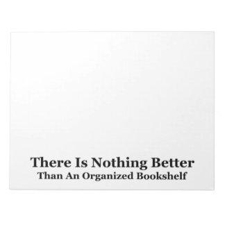 An Organized Bookshelf Notepads