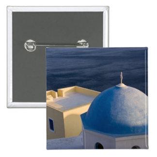An Orthodox Church near the sea, Oia Santorini 15 Cm Square Badge