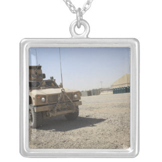 An Oshkosh M-ATV 2 Silver Plated Necklace