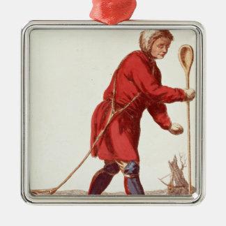 An Ostiak Hunting Ermine Christmas Ornament