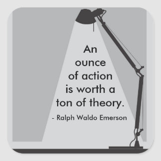 """""""An ounce of action"""" Sticker"""