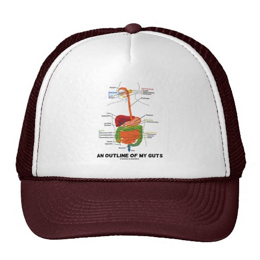 An Outline Of My Guts (Digestive System Humor) Trucker Hat