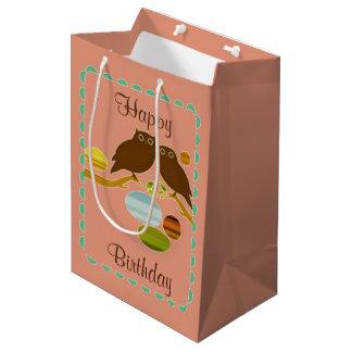 An Owl Couple Medium Gift Bag