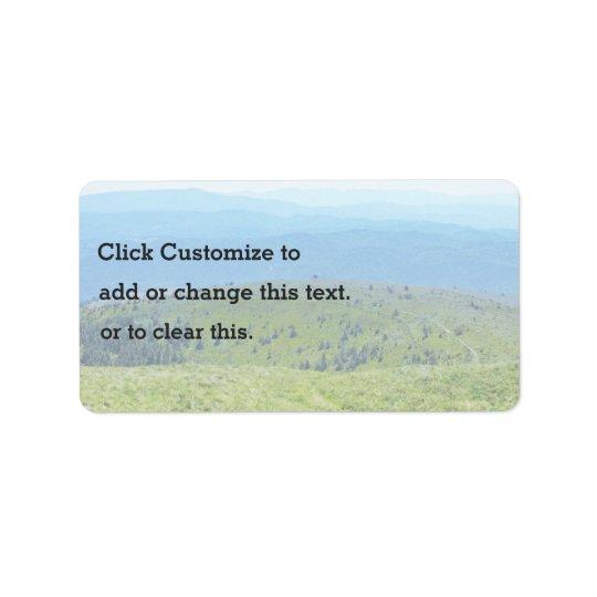 An Photo Of A Landscape Label
