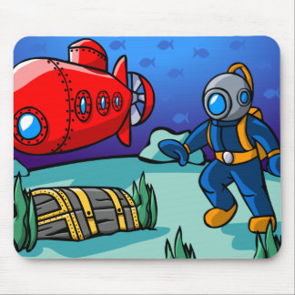 An Underwater Adventure Mouse Mat