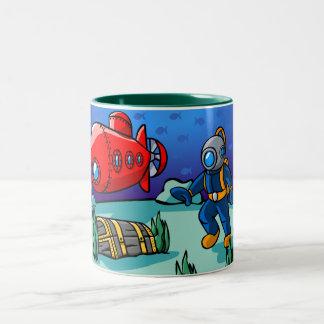 An Underwater Adventure Two-Tone Coffee Mug