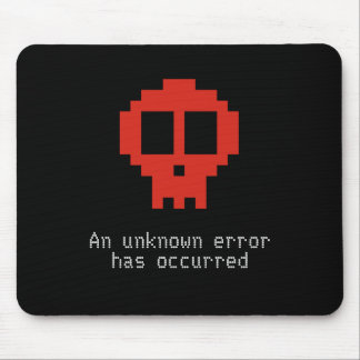 An unknown error has occurred on my PC Mouse Pad