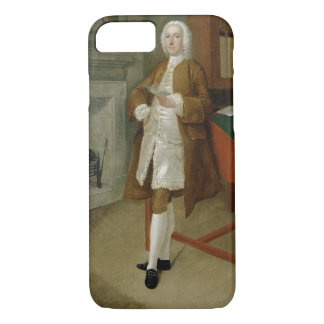 An Unknown Man in a Library, c.1740-41 (oil on can iPhone 8/7 Case