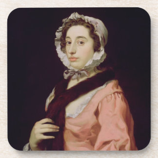 An Unknown Woman, called Peg Woffington (oil on ca Drink Coaster