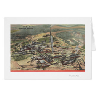 Anaconda, Montana - Washoe Smelter View from Card