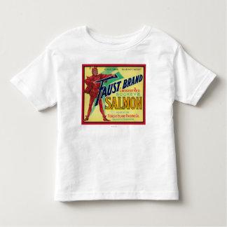 Anacortes, Washington - Faust Salmon Case Label T-shirt