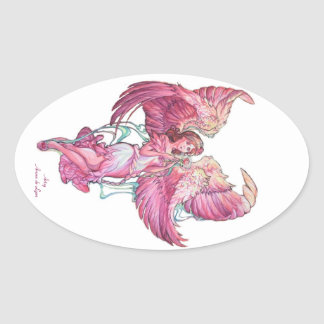 Anael 2 oval sticker