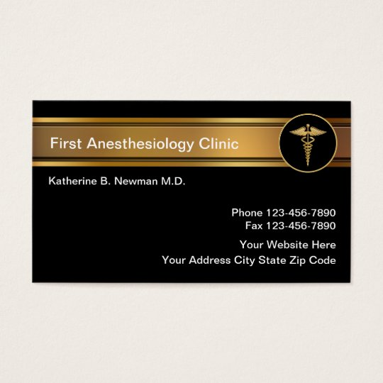 Anaesthesiologist Business Cards