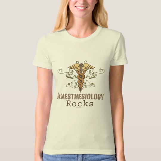 Anaesthesiology Rocks Ladies Organic Tee