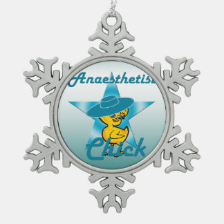 Anaesthetist Chick #7 Snowflake Pewter Christmas Ornament